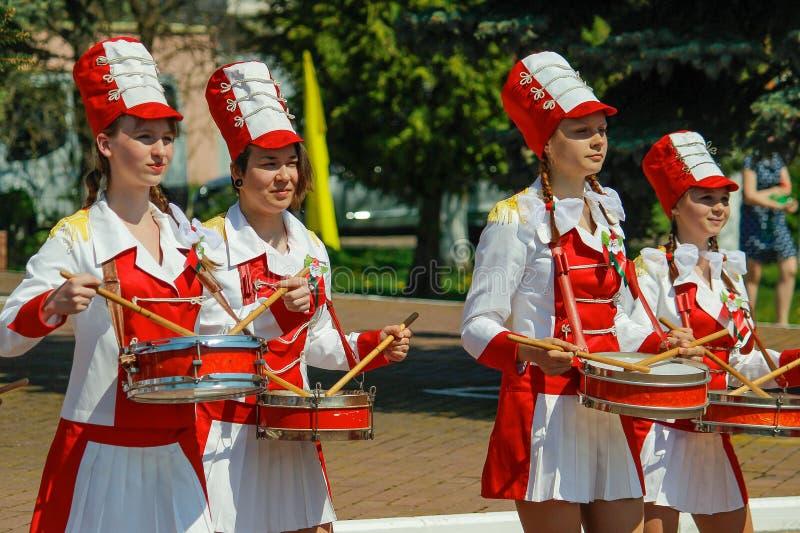 Ο εορτασμός της ημέρας νίκης στον παγκόσμιο πόλεμο 2 μπορεί 9, το 2016, στην περιοχή Gomel της Δημοκρατίας της Λευκορωσίας στοκ φωτογραφίες