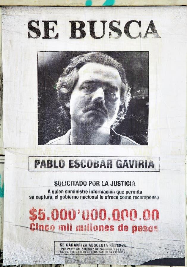 Ο επιθυμητός Pablo Escobar στοκ εικόνα
