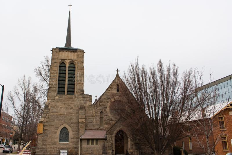 Ο επισκοπικός καθεδρικός ναός του ST Michael ` s είναι επισκοπικός ναός σε Boise, Αϊντάχο, Ηνωμένες Πολιτείες στοκ φωτογραφία με δικαίωμα ελεύθερης χρήσης