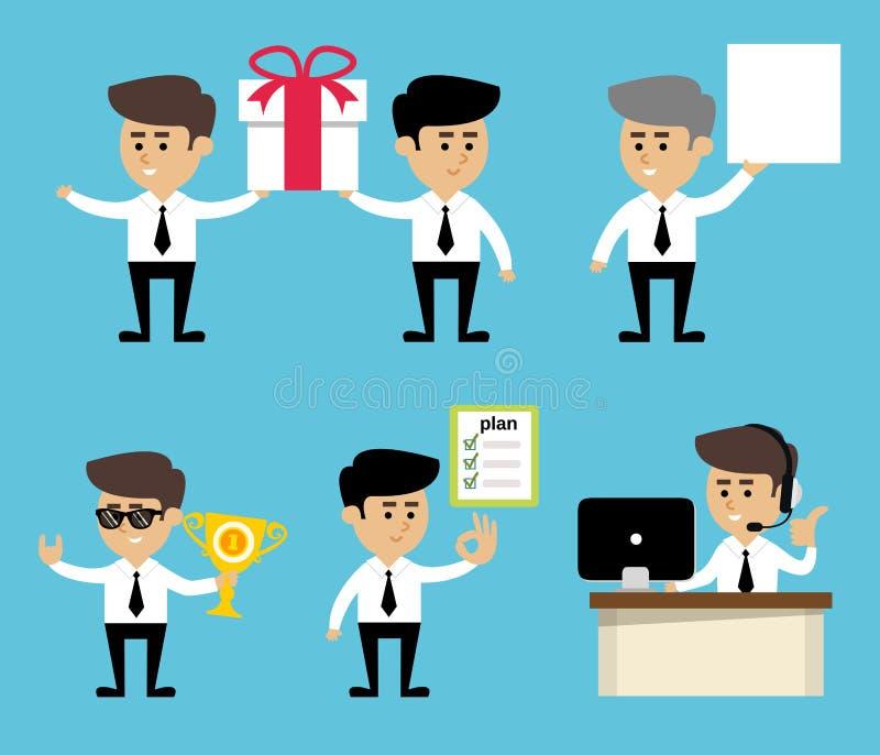 Ο επιχειρηματίας θέτει το σύνολο ελεύθερη απεικόνιση δικαιώματος