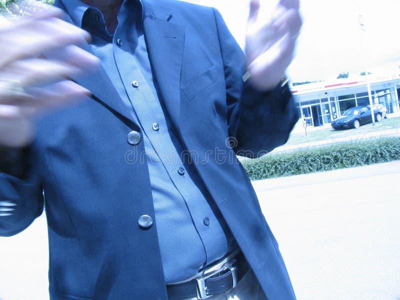 ο επιχειρηματίας θαμπάδων δίνει τη συζήτηση του S Στοκ εικόνα με δικαίωμα ελεύθερης χρήσης