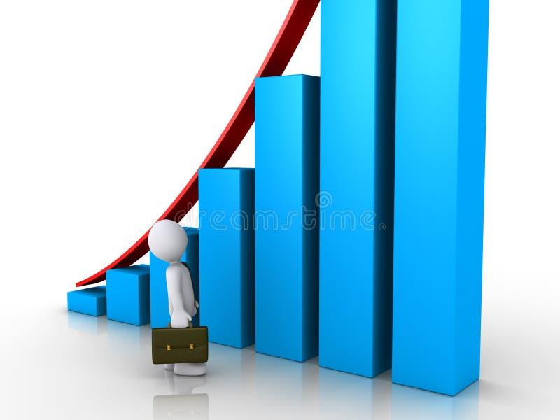 Ο επιχειρηματίας θαυμάζει τα καλά αποτελέσματα διανυσματική απεικόνιση
