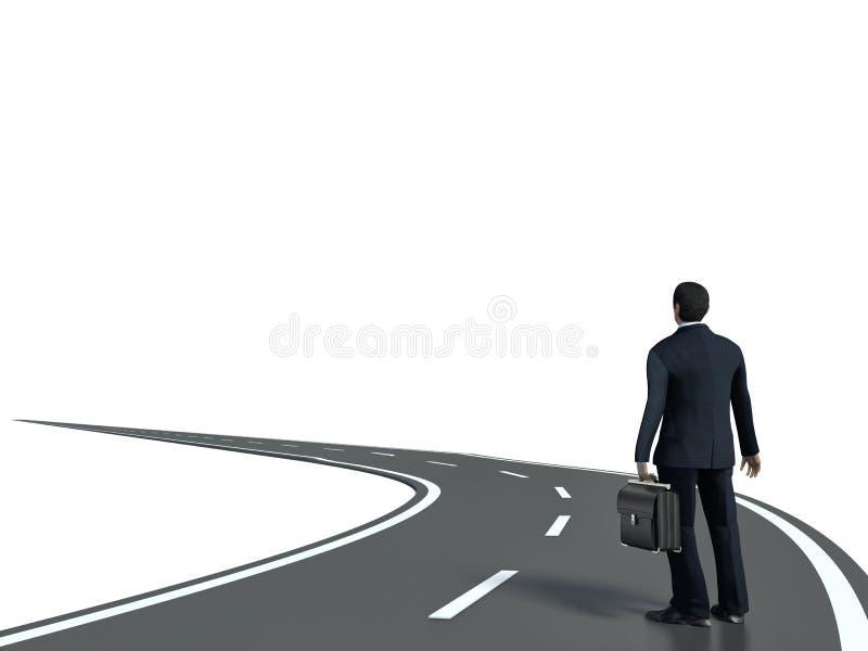 Ο επιχειρηματίας πηγαίνει κατευθείαν ο τρόπος του διανυσματική απεικόνιση