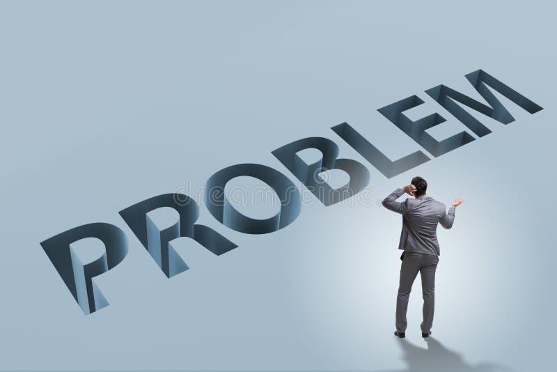 Ο επιχειρηματίας που υπερνικά το επιχειρησιακό οικονομικό πρόβλημα στοκ εικόνες με δικαίωμα ελεύθερης χρήσης