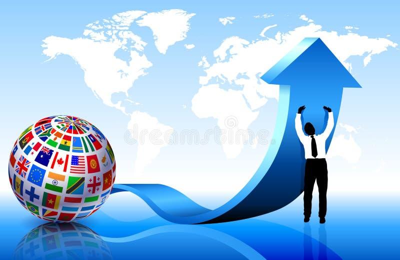 ο επιχειρηματίας σημαιο διανυσματική απεικόνιση