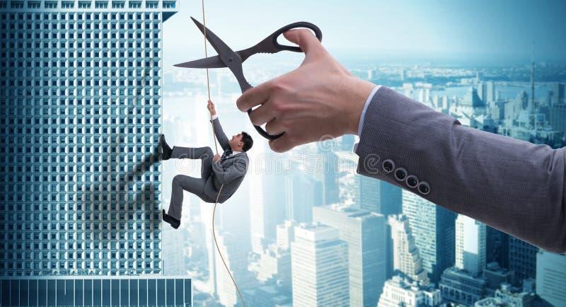Ο επιχειρηματίας στην έννοια επιχειρησιακού κινδύνου στοκ φωτογραφία