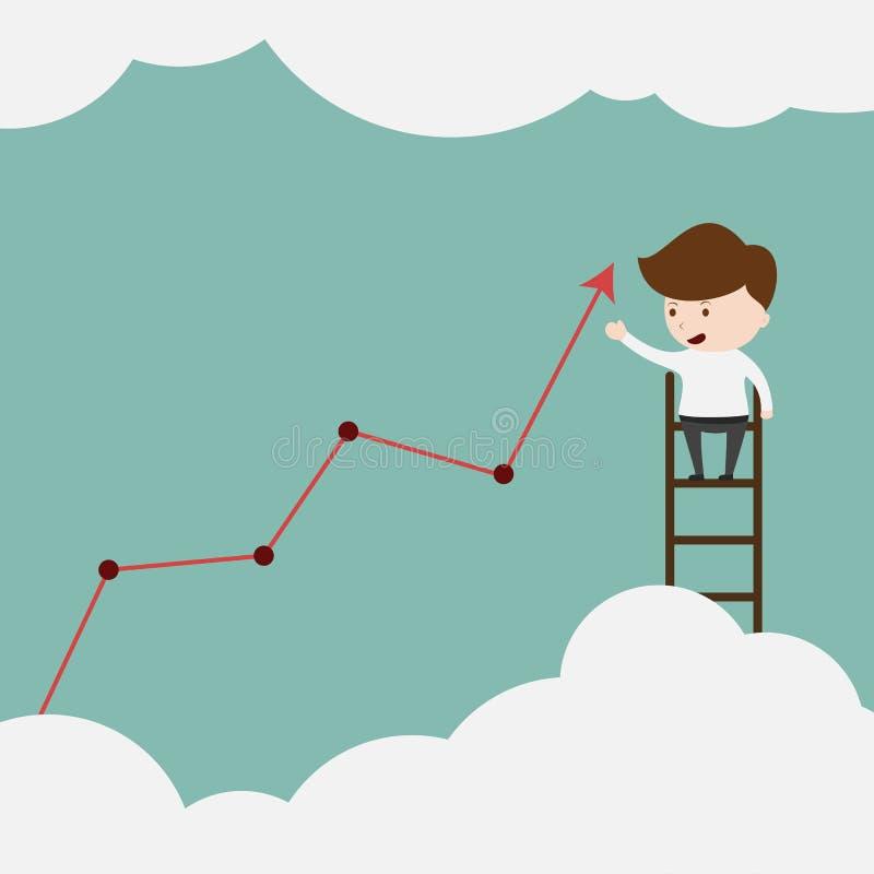 Ο επιχειρηματίας σύρει την πρόληψη των στατιστικών διανυσματική απεικόνιση