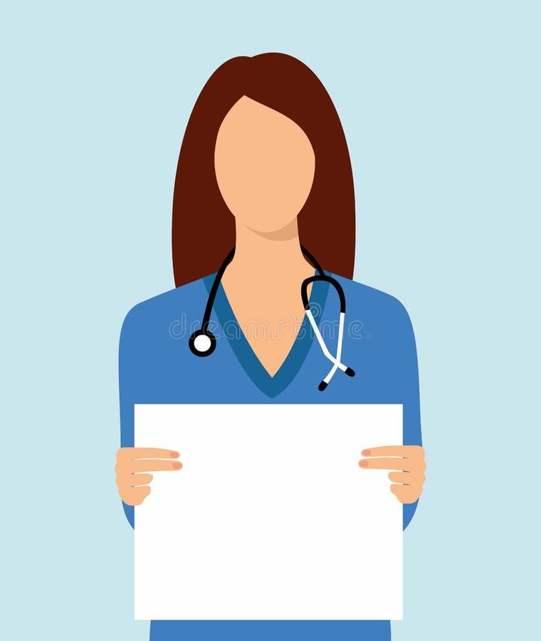 Ο εργαζόμενος στον ιατρικό κλάδο απεικόνισης κρατά ένα καθαρό φύλλο απεικόνιση αποθεμάτων