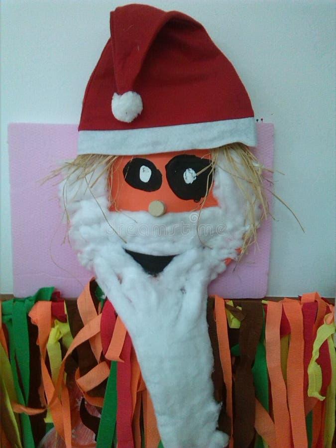 Ο ζωηρόχρωμος Άγιος Βασίλης με το κόκκινο καπέλο στοκ εικόνα με δικαίωμα ελεύθερης χρήσης