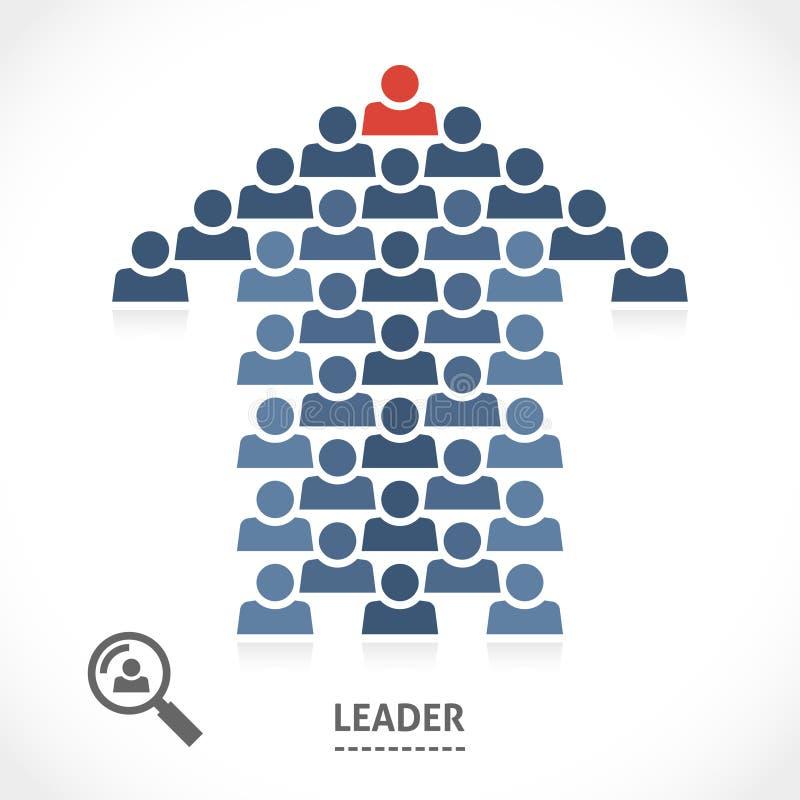 Ο ηγέτης ξέρει πάντα τη σωστή κατεύθυνση διανυσματική απεικόνιση