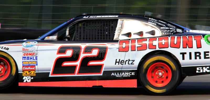 Οδηγός ΕΝΑΝΤΊΟΝ ΤΗΣ ΠΑΡΕΜΒΟΛΉΣ ΠΑΡΑΣΊΤΩΝ Allmendinger NASCAR στοκ φωτογραφία