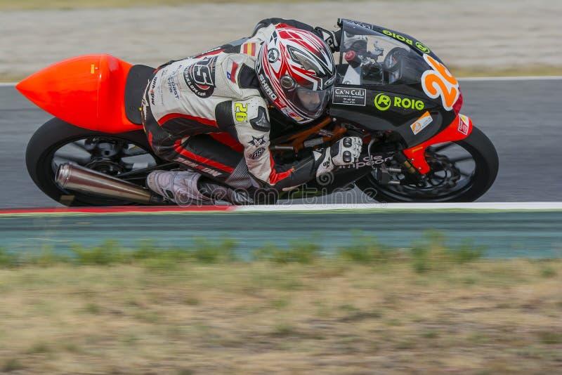 Οδηγός Ντάνιελ Urrutia Μεσογειακά Motorcycling πρωταθλήματα στοκ φωτογραφία με δικαίωμα ελεύθερης χρήσης