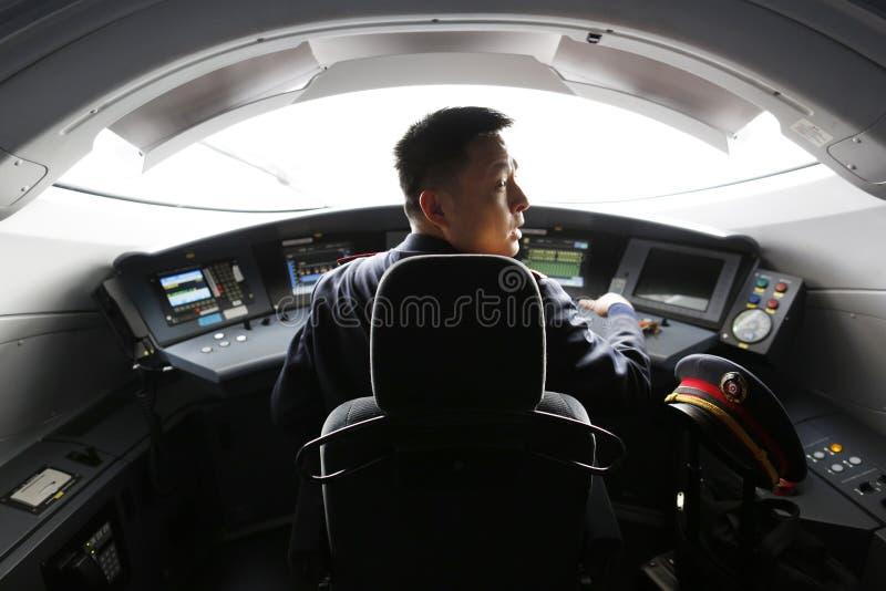Οδηγός τραίνων υψηλής ταχύτητας στοκ φωτογραφία με δικαίωμα ελεύθερης χρήσης