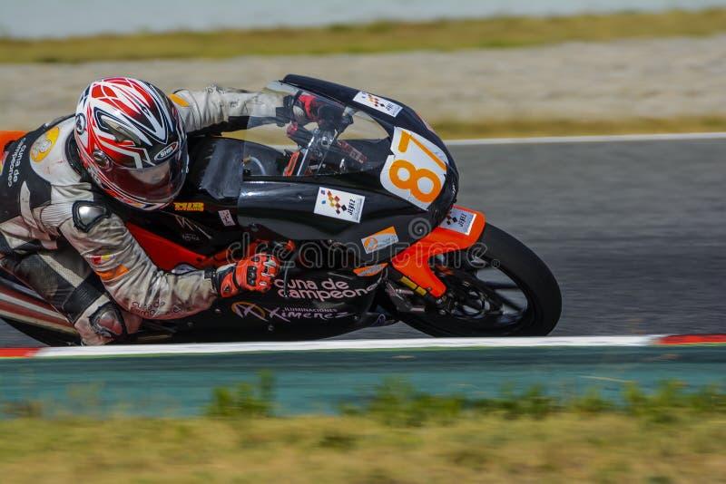 Οδηγός Fau Cañero Μεσογειακά Motorcycling πρωταθλήματα στοκ εικόνες με δικαίωμα ελεύθερης χρήσης
