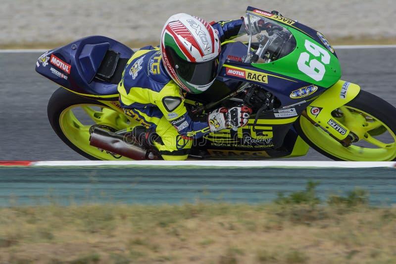 Οδηγός Marcos Ruda Μεσογειακά Motorcycling πρωταθλήματα στοκ φωτογραφίες με δικαίωμα ελεύθερης χρήσης