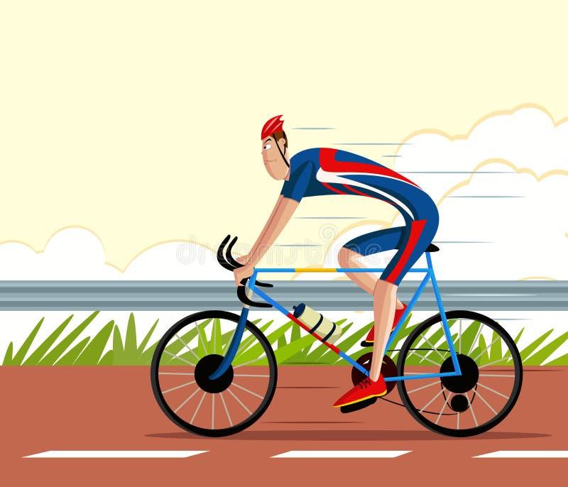 Οδηγώντας αθλητικός κύκλος ποδηλατών διανυσματική απεικόνιση
