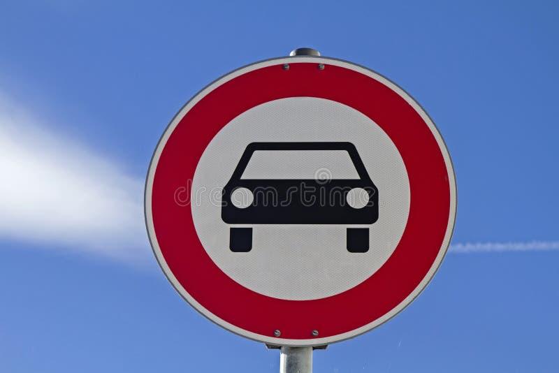 Οδηγώντας απαγόρευση στοκ φωτογραφία με δικαίωμα ελεύθερης χρήσης