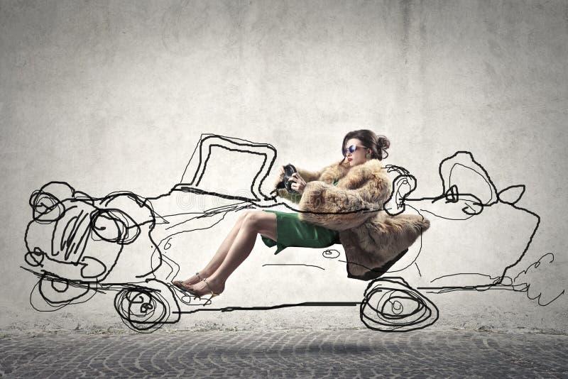 οδηγώντας γυναίκα στοκ εικόνες με δικαίωμα ελεύθερης χρήσης