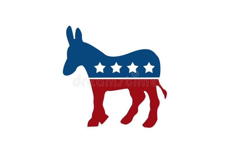 Ο δημοκρατικός γάιδαρος απεικόνιση αποθεμάτων