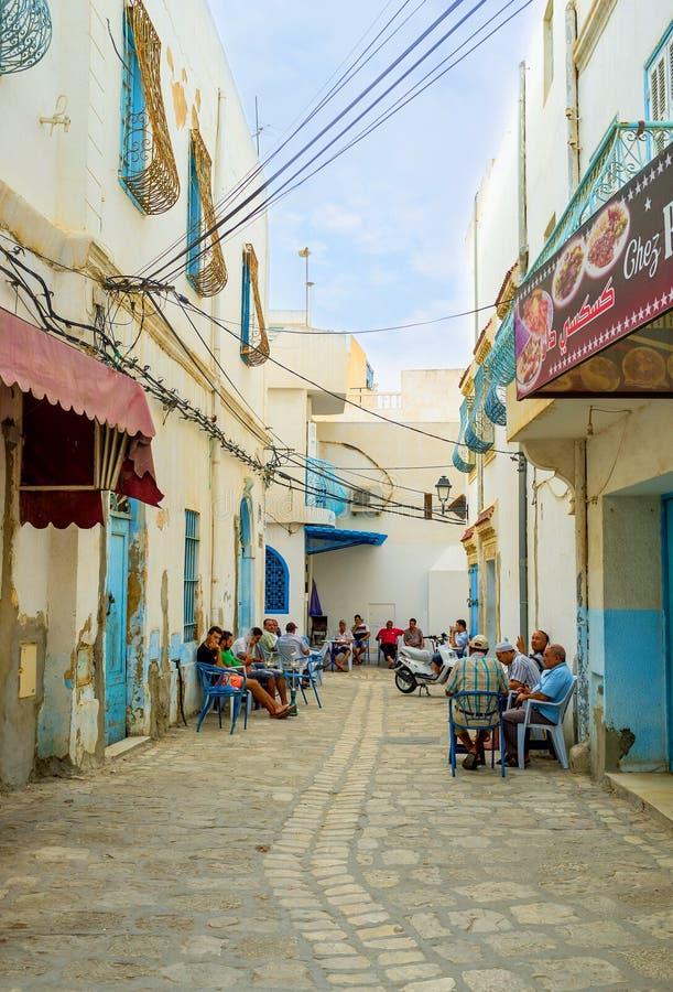 Ο δημοφιλής καφές σε Sousse στοκ φωτογραφία