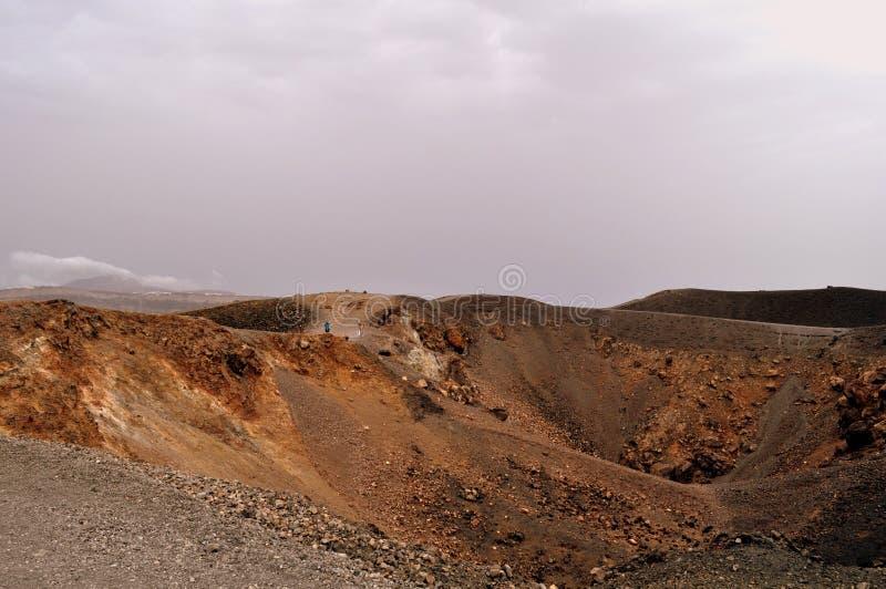 Ο ηφαιστειακός κρατήρας Nea Kameni στοκ φωτογραφίες