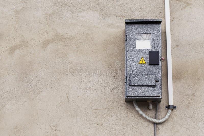 Ο ηλεκτρικός μετρητής στοκ φωτογραφία