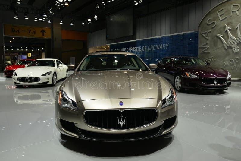 Ο θάλαμος Maserati supercars στοκ εικόνα με δικαίωμα ελεύθερης χρήσης