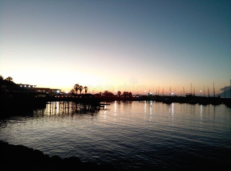 Ο θαλάσσιος λιμένας του antofagasta Χιλή στοκ εικόνα με δικαίωμα ελεύθερης χρήσης