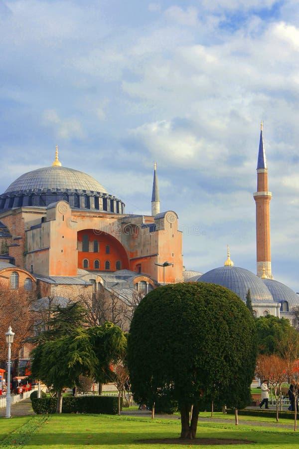 Ο θαυμάσιος καθεδρικός ναός Hagia Sophia στη Ιστανμπούλ στοκ φωτογραφίες