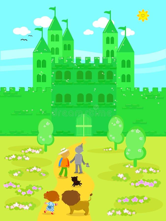 Ο θαυμάσιος μάγος Oz 05 το σμαραγδένιο Castle ελεύθερη απεικόνιση δικαιώματος