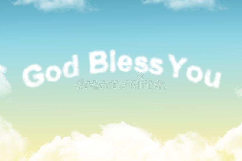 Ο Θεός σας ευλογεί - καλύψτε τη λέξη στοκ φωτογραφία με δικαίωμα ελεύθερης χρήσης