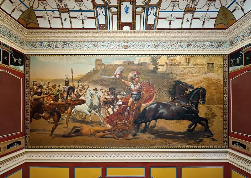 Ο θρίαμβος Αχιλλέα, στο παλάτι Achilleion, Κέρκυρα, Ελλάδα στοκ εικόνα με δικαίωμα ελεύθερης χρήσης