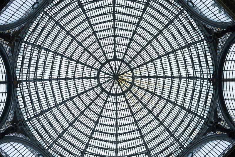 Ο θόλος Galleria Umberto στοκ εικόνα με δικαίωμα ελεύθερης χρήσης