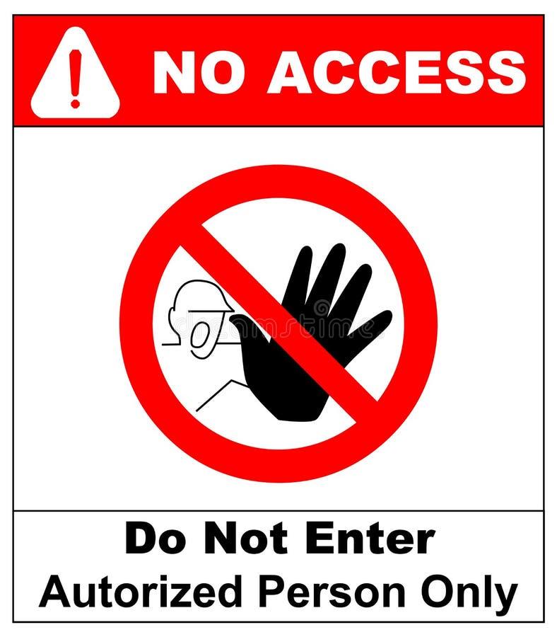 Ο διανυσματικός κύκλος που απαγορεύεται υπογράφει την περιορισμένη περιοχή για το μέλος μόνο ή κανένας εισάγετε το σημάδι στη ζών διανυσματική απεικόνιση
