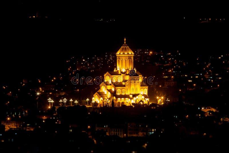 Ο ιερός καθεδρικός ναός τριάδας του Tbilisi, Γεωργία στοκ φωτογραφία με δικαίωμα ελεύθερης χρήσης