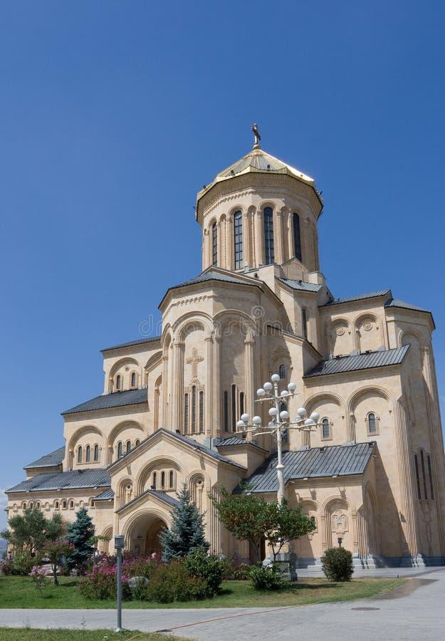 Ο ιερός καθεδρικός ναός τριάδας του Tbilisi στοκ φωτογραφίες