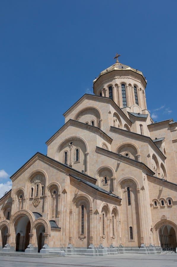 Ο ιερός καθεδρικός ναός τριάδας του Tbilisi στοκ εικόνα