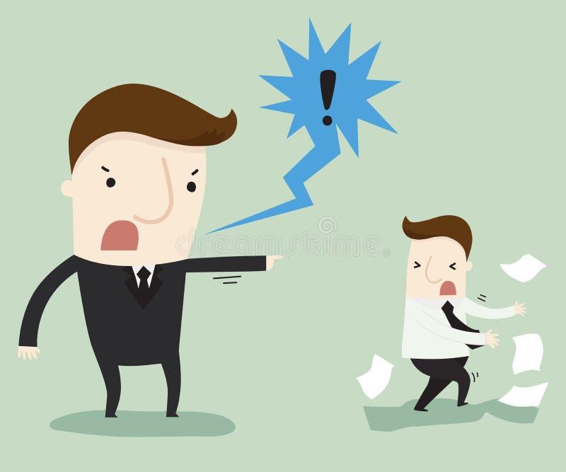 Ο διευθυντής παραπονιέται ένας εργαζόμενος ελεύθερη απεικόνιση δικαιώματος