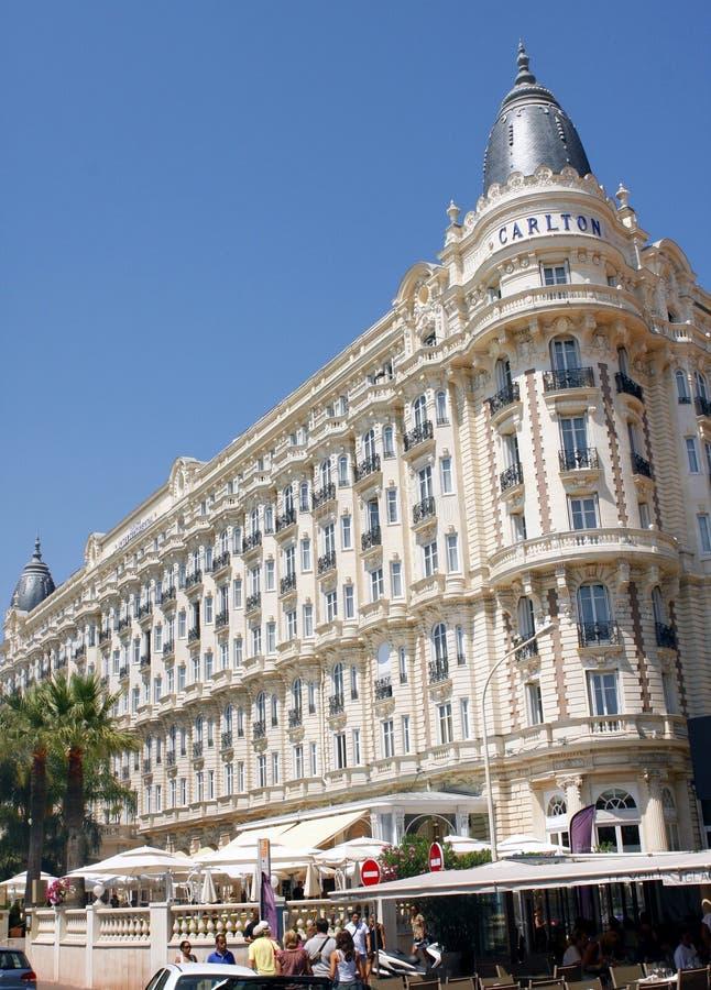 Ο διηπειρωτικός Carlton Κάννες είναι ξενοδοχείο πολυτελείας στοκ εικόνα