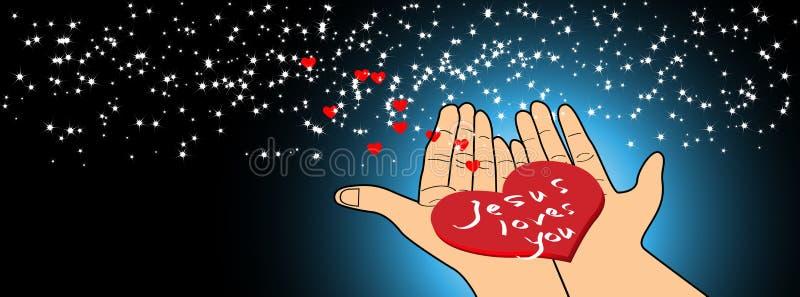ο Ιησούς σας αγαπά ελεύθερη απεικόνιση δικαιώματος