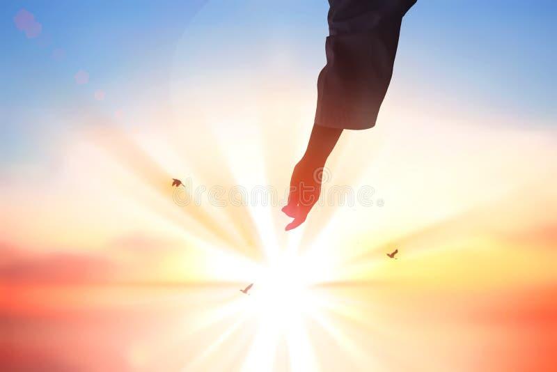 Ο Ιησούς Χριστός σώζει τα ανθρώπινα χέρια στοκ εικόνες
