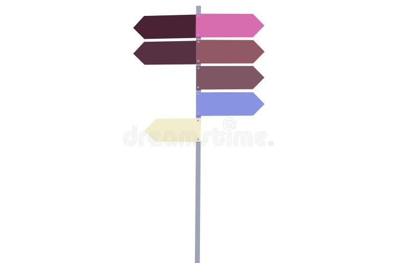 Οδικά σημάδια πολύχρωμα χωρίς απομόνωση λέξεων στοκ εικόνα