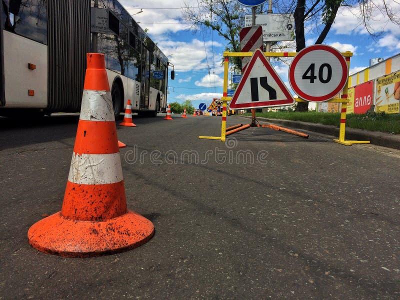 οδικές εργασίες εγκαταστάσεων τάφρων κατασκευής στοκ φωτογραφία με δικαίωμα ελεύθερης χρήσης