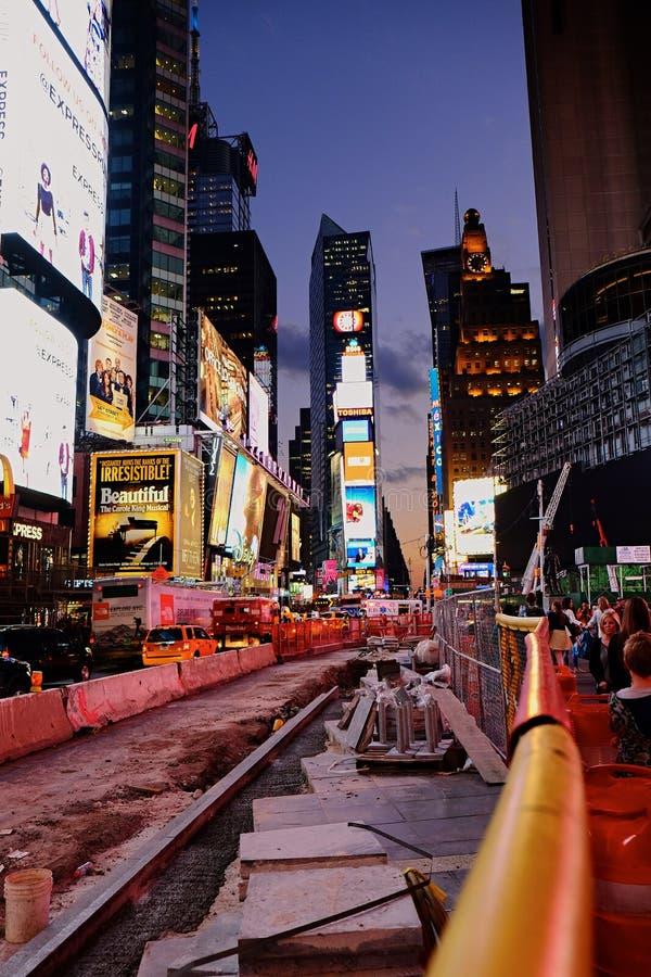 Οδική εργασία για 7 θόριο Avenu στη Νέα Υόρκη στοκ εικόνα με δικαίωμα ελεύθερης χρήσης