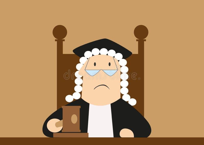 Ο δικαστής περνά την απόφαση στο δικαστήριο απεικόνιση αποθεμάτων
