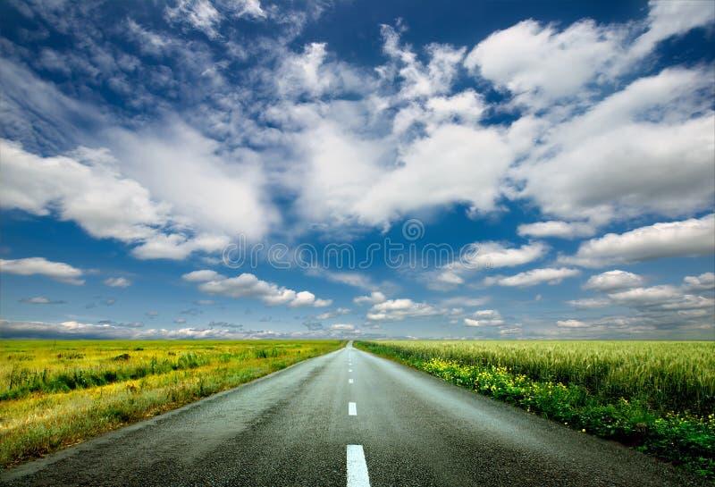 οδικός ουρανός στοκ εικόνες