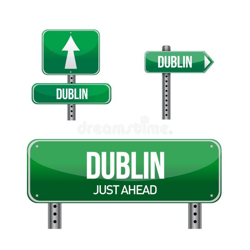Οδικό σημάδι πόλεων του Δουβλίνου ελεύθερη απεικόνιση δικαιώματος