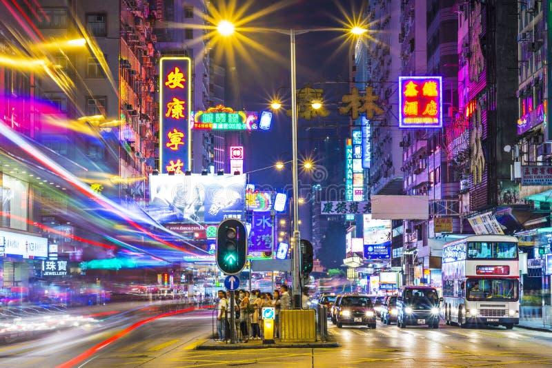 Οδικό Χονγκ Κονγκ του Nathan στοκ φωτογραφίες