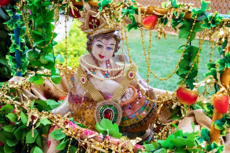 Ο ινδός Θεός, Λόρδος Krishna, στοκ εικόνα