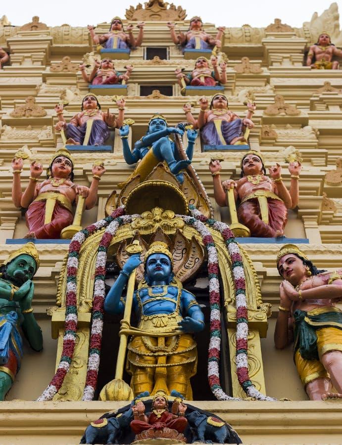 Ο ινδός ναός Krishna Θεών στην Ινδία στοκ φωτογραφία